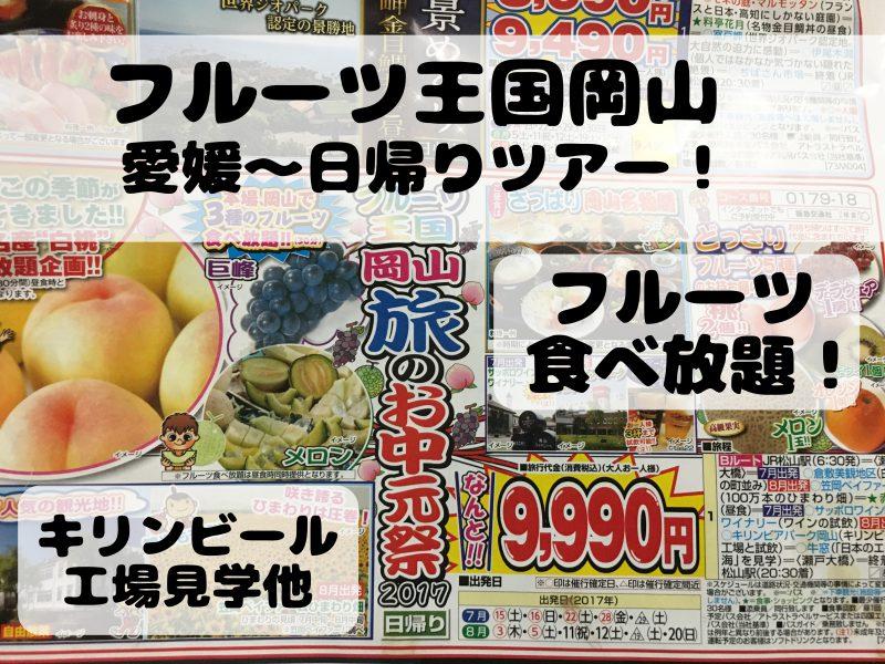 岡山旅行フルーツ食べ放題