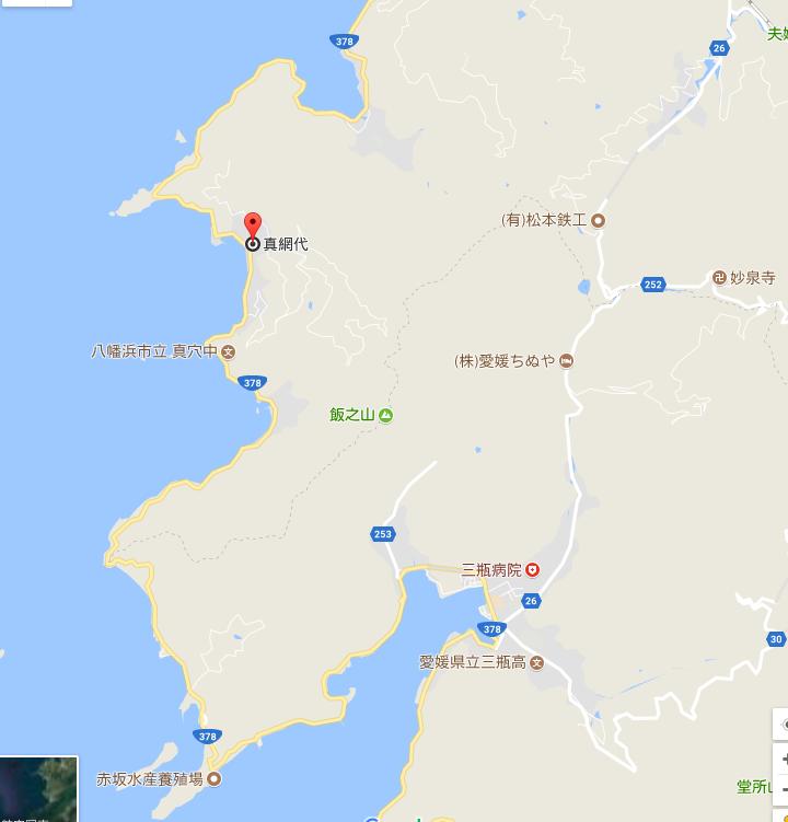 真穴地区,地図