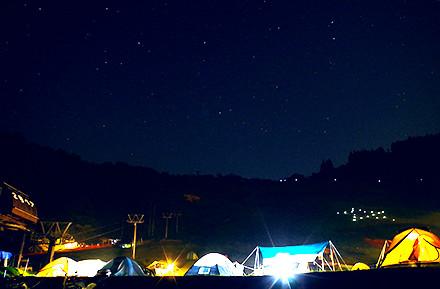 大谷キャンプ場星空