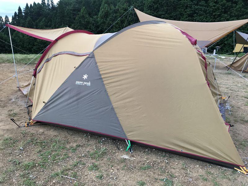 若杉高原おおやキャンプ場,スノーピークのテント