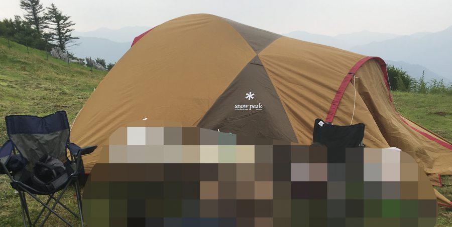 四国カルスト,キャンプ,テント