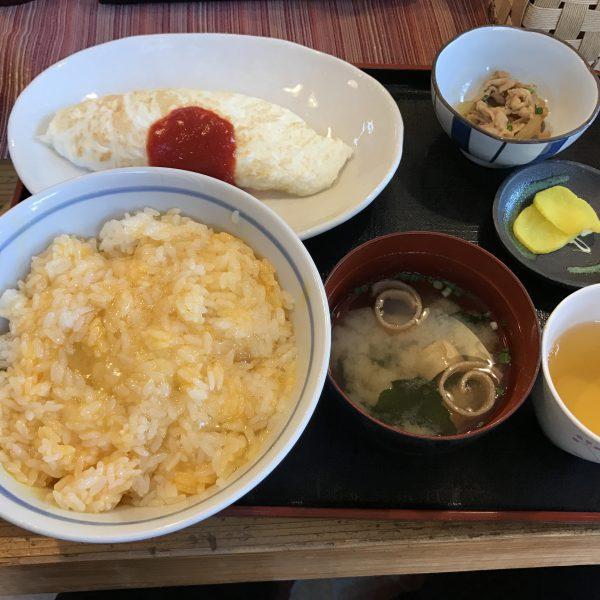 熊福,白いオムレツ定食