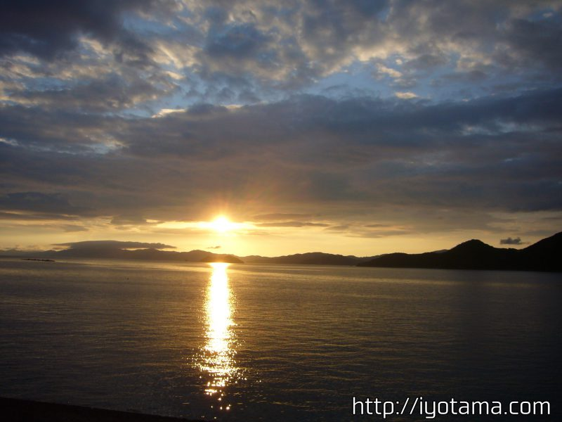 真穴地区,風景,夕日