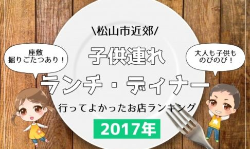 松山市,子供連れ,ランチ,2017