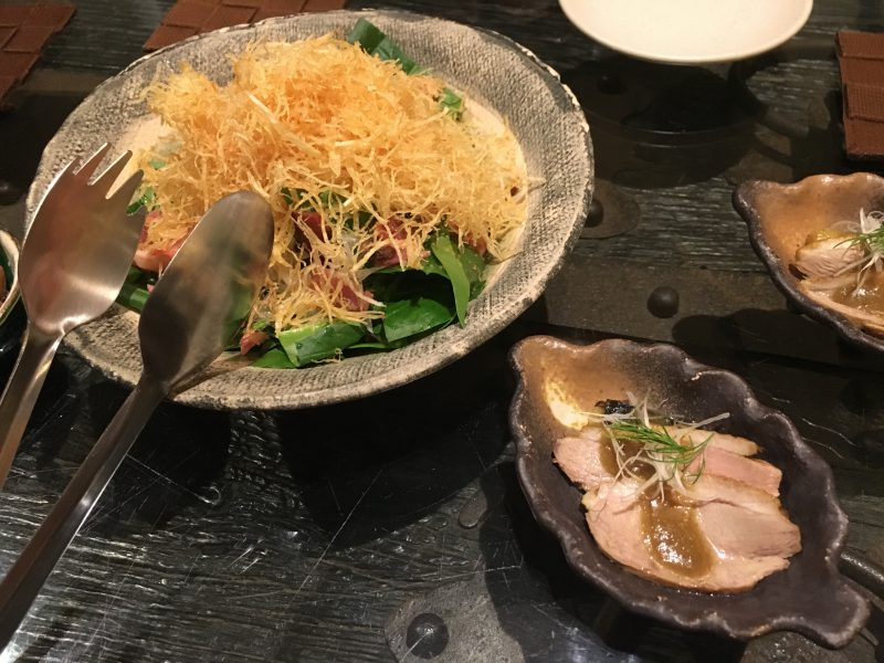 飯台,サラダ