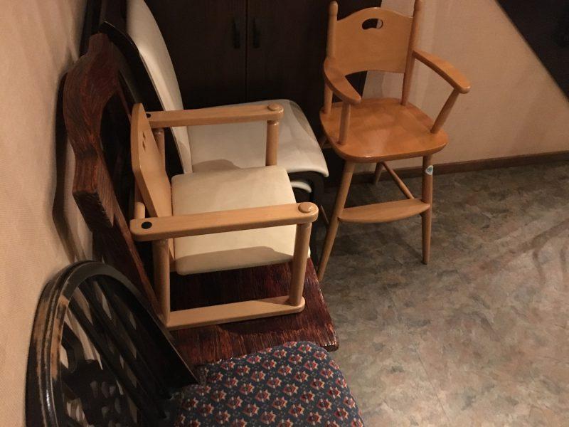 飯台,子供椅子