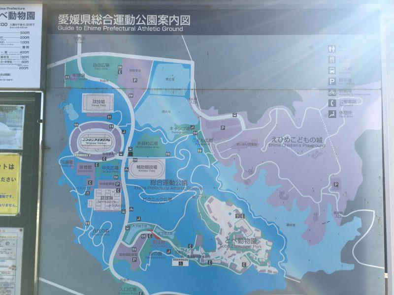 愛媛県立とべ動物園,地図