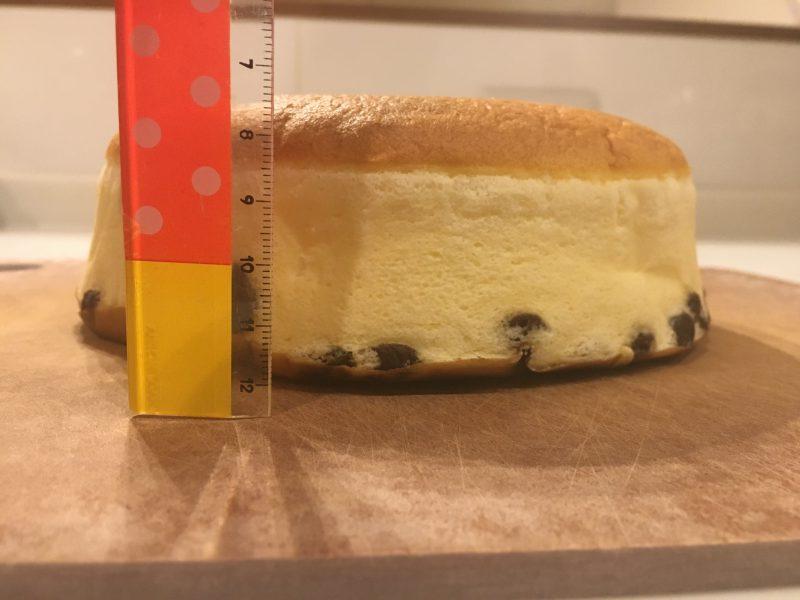 りくろーおじさんのチーズケーキ,高さ