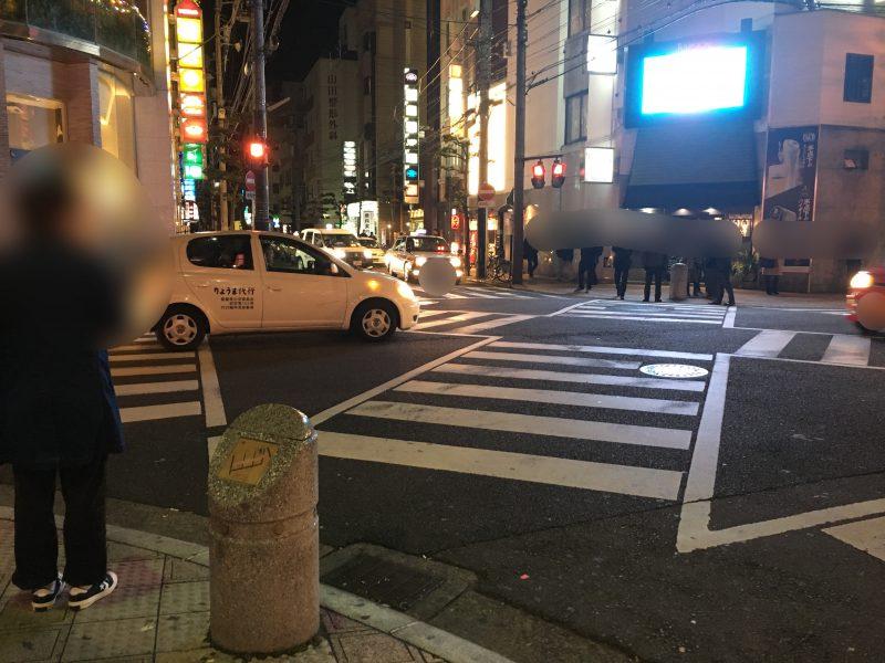 松山,夜の繁華街