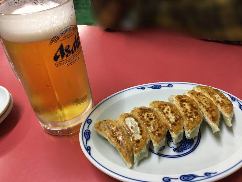 豚珍行,餃子,ビール