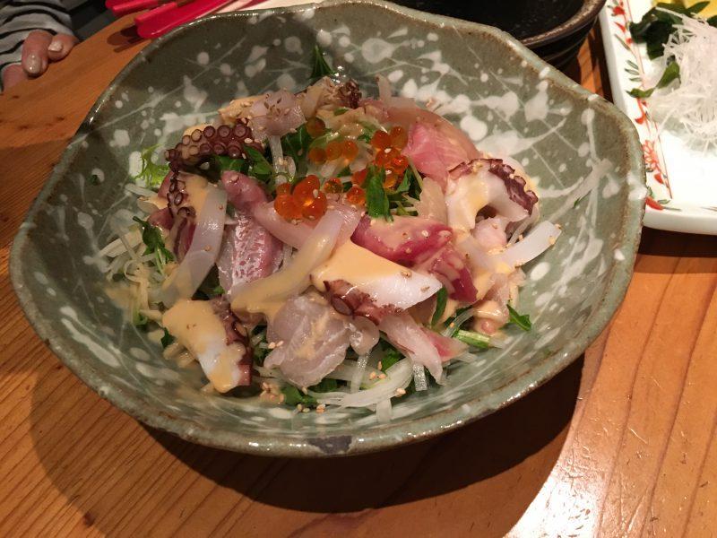ふる田,海鮮サラダ