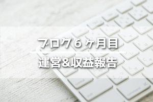 ブログ運営報告,6ヶ月
