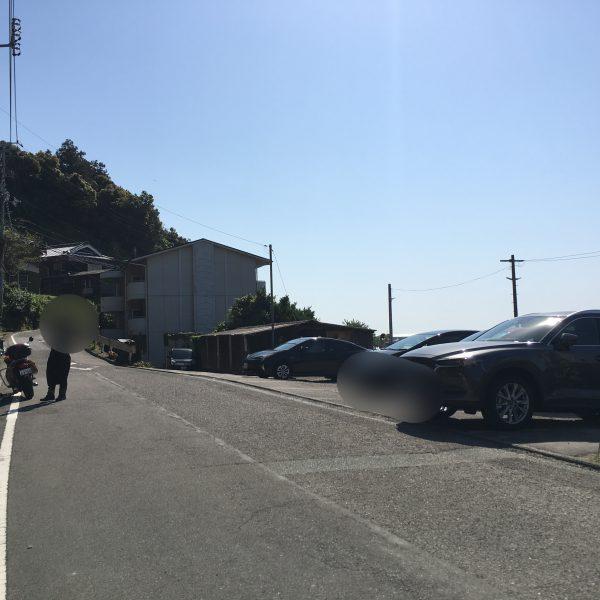 下灘駅,駐車場