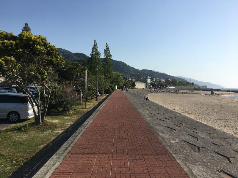 双海,歩道