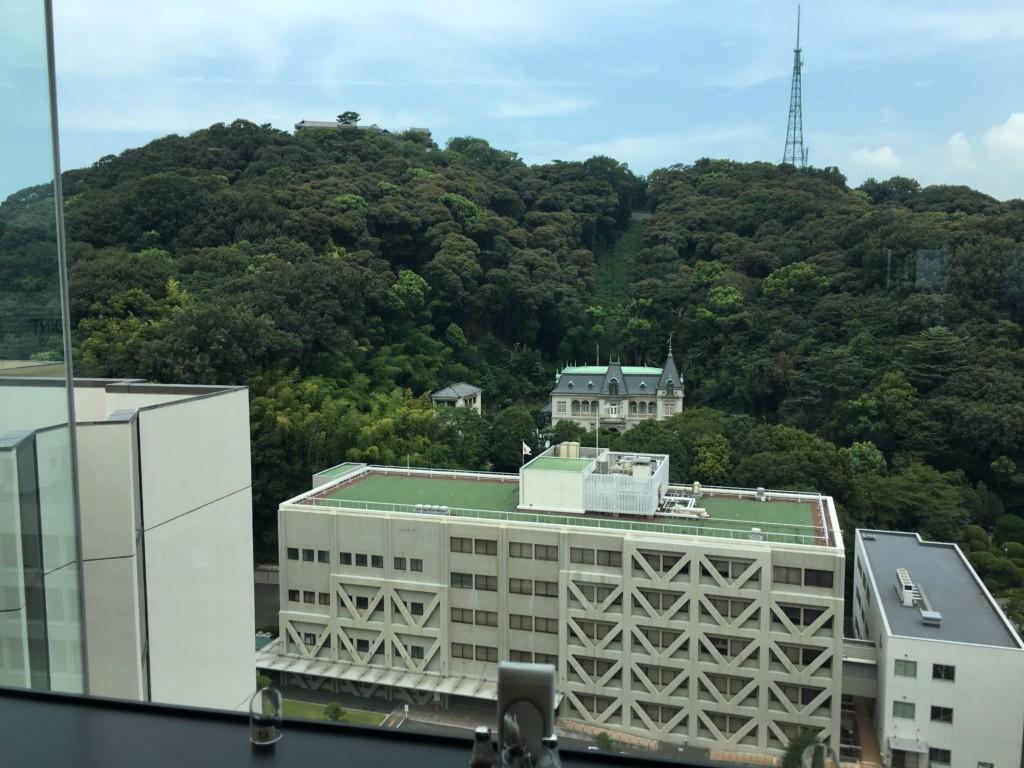 松山全日空ホテル,ランチブッフェ,景色