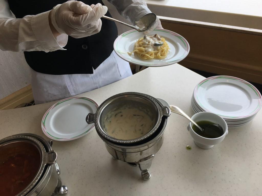松山全日空ホテル,ランチブッフェ,パスタ