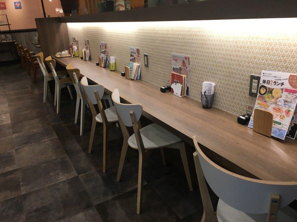 ベリーベリースープ(フジグラン松山店),カウンター席