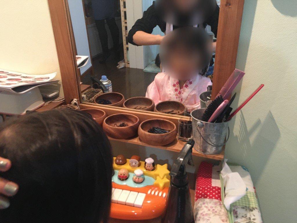 コゴエスタジオ,七五三,お化粧