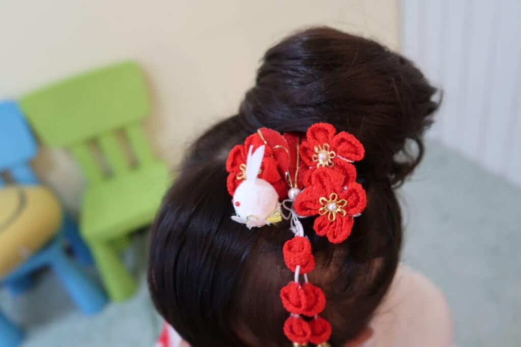 七五三,椿神社,髪型
