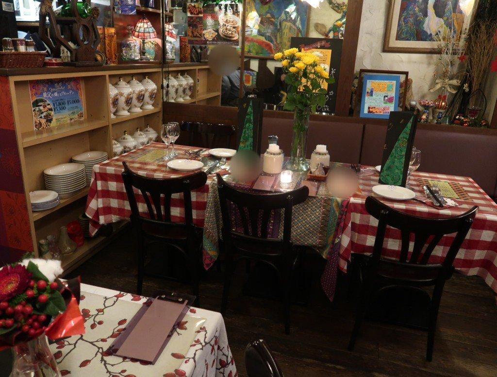 アミティエ(松山)クリスマスディナーの会場の雰囲気