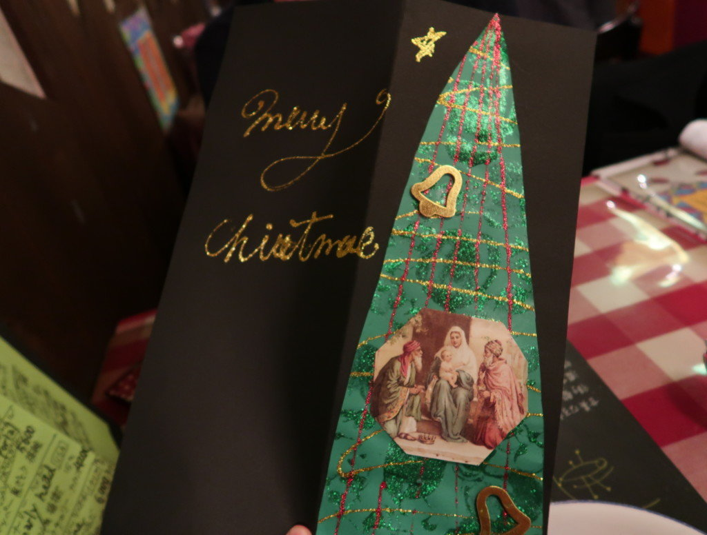 アミティエ(松山)のクリスマスディナーのメニュー表
