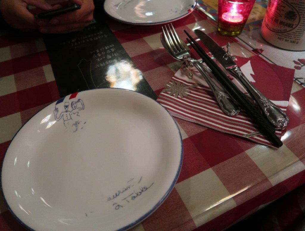 アミティエ(松山)のクリスマスディナーのテーブル