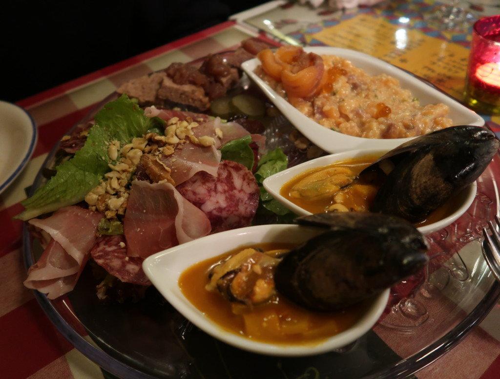 アミティエ(松山)のクリスマスディナーの前菜