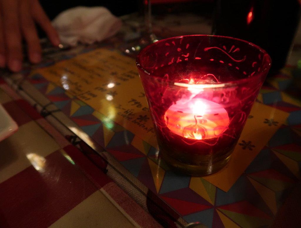 アミティエ(松山)クリスマスディナーのテーブルの雰囲気