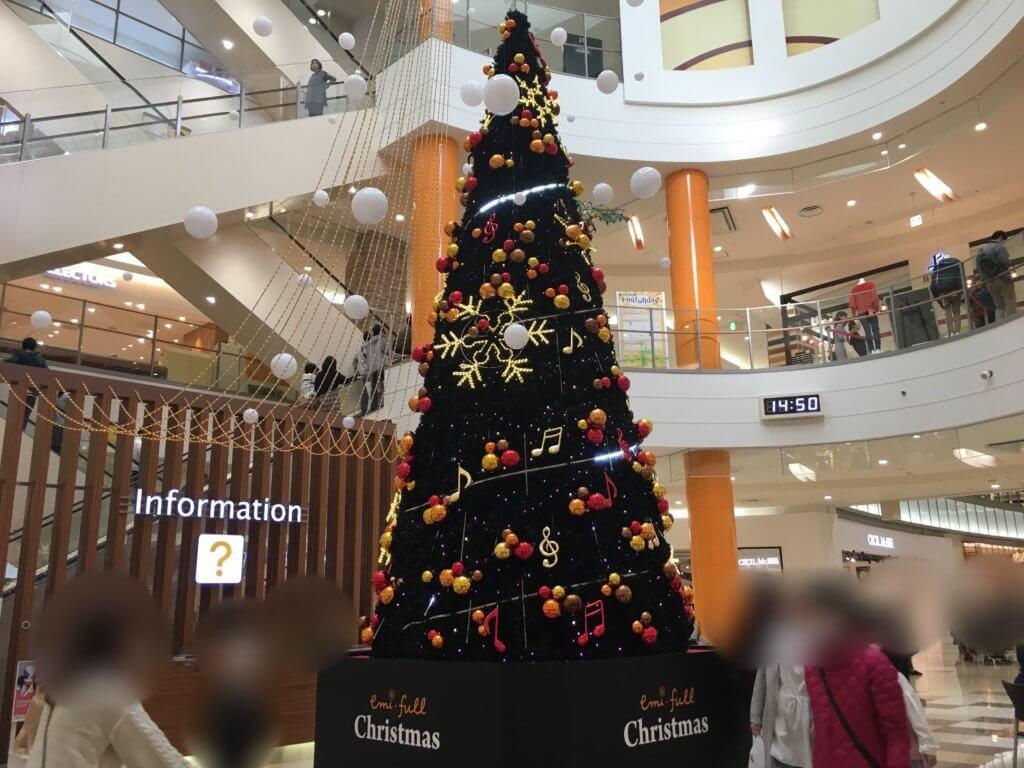 エミフルMASAIのクリスマスツリー