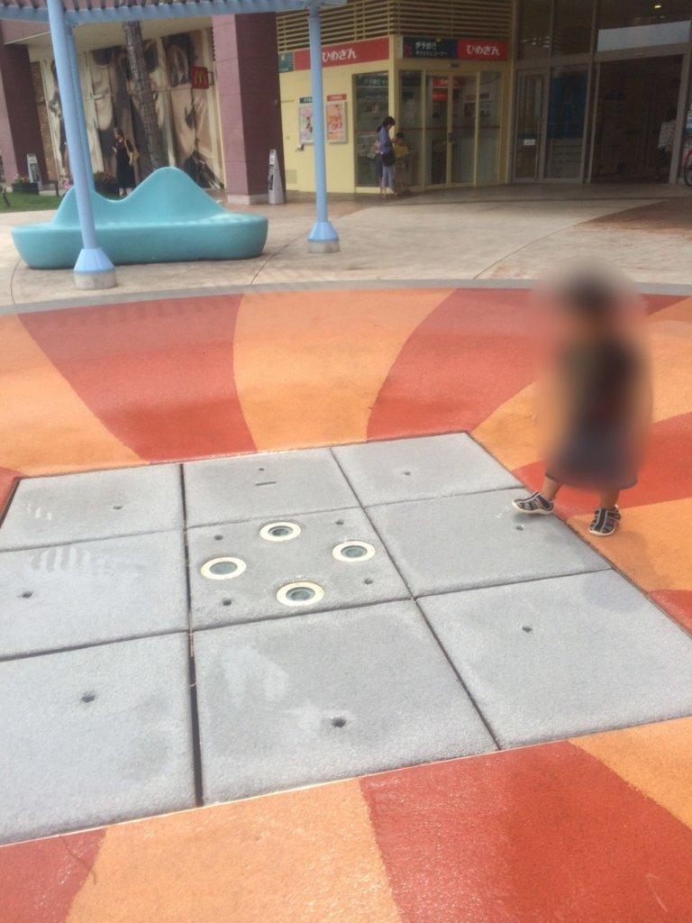 エミフルMASAI,子供連れ,水遊び