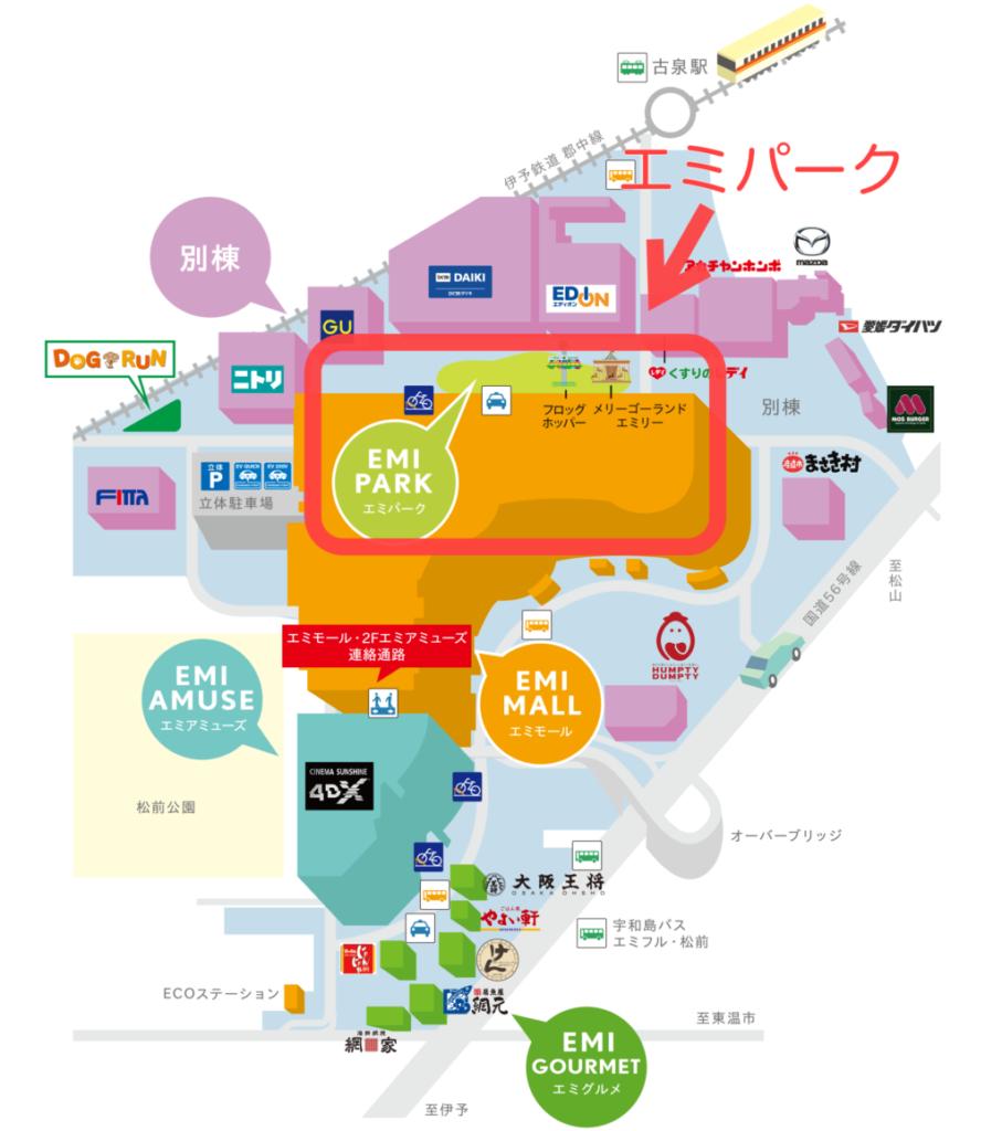 エミフルMASAKI,全体マップ
