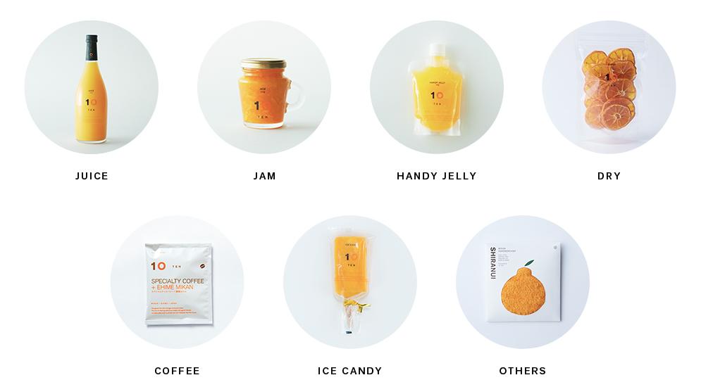 10FACTORYで販売されているみかん味の商品