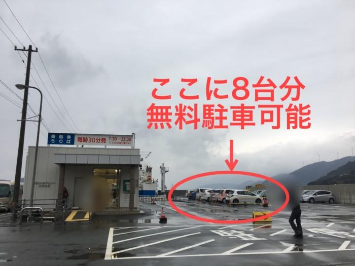 三崎港すぐ近くの無料駐車場