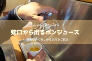 愛媛県の蛇口から出るポンジュースのまとめ情報