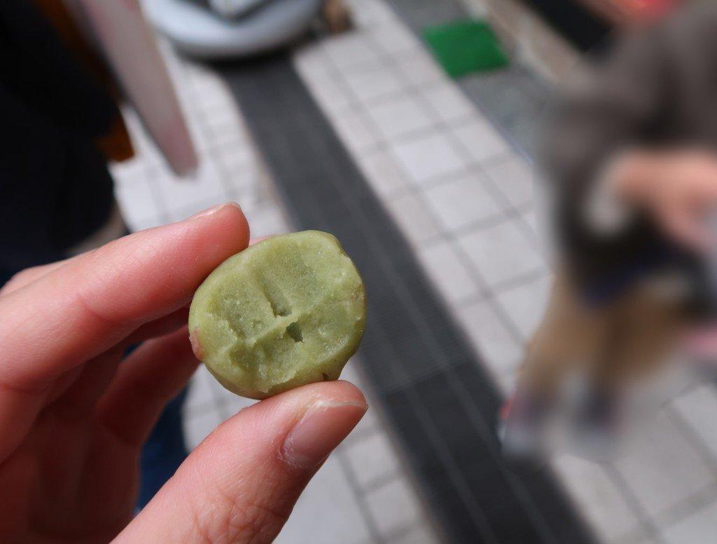 白鷺堂(松山市道後)1粒(抹茶餅)