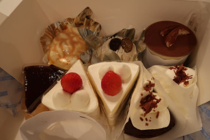 パティスリー・ラポール(本店)で購入したカットケーキ8個