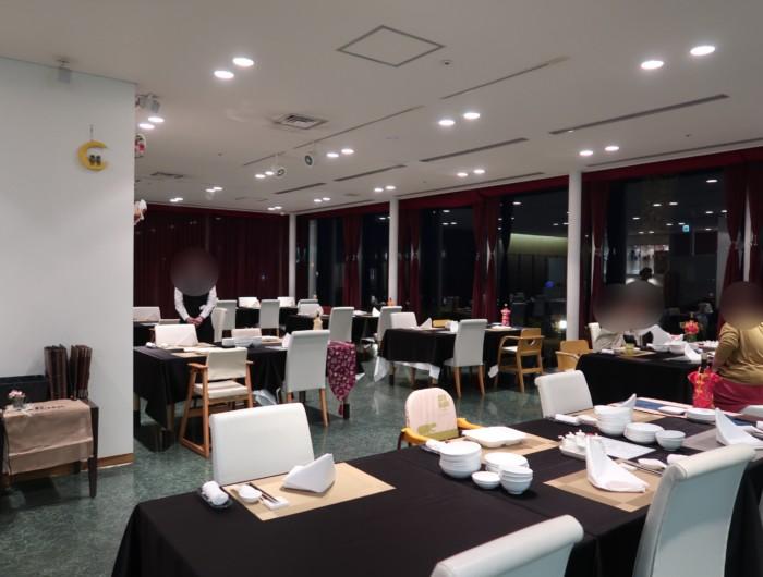 ホテル&リゾーツ別府湾,中華料理海鳳の店内