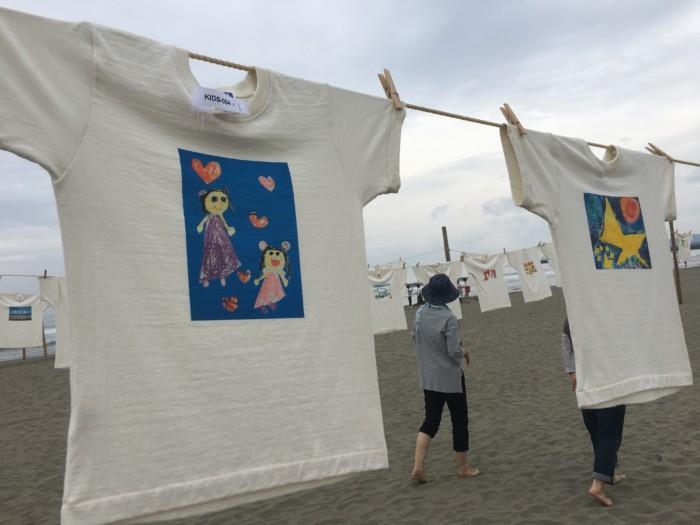 高知Tシャツアート展,子供の絵が描かれたTシャツ