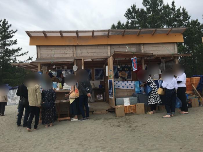 高知Tシャツアート展の砂お土産物売り場