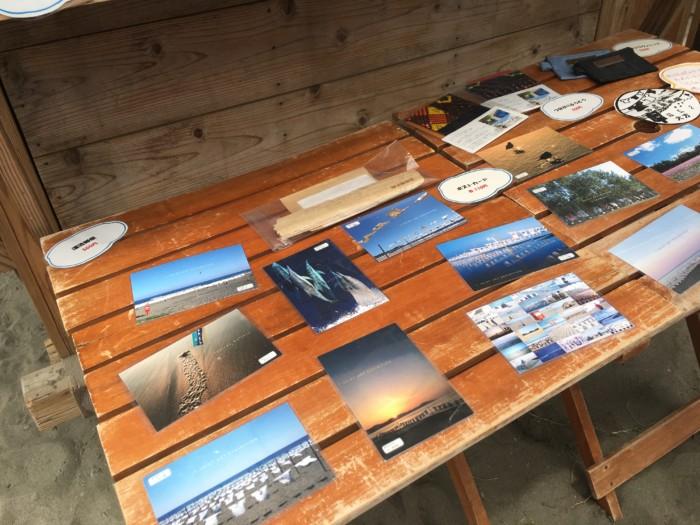 高知Tシャツアート展の砂浜のすなびてんぽで販売されているポストカード