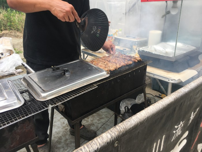 高知Tシャツアート展の出店,串焼き肉