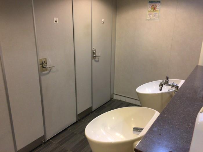 国道九四フェリーのトイレ
