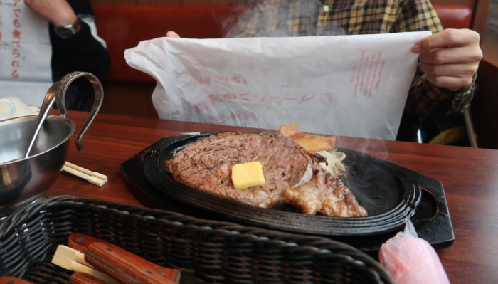 俵屋(今治)の熟成肉ステーキ