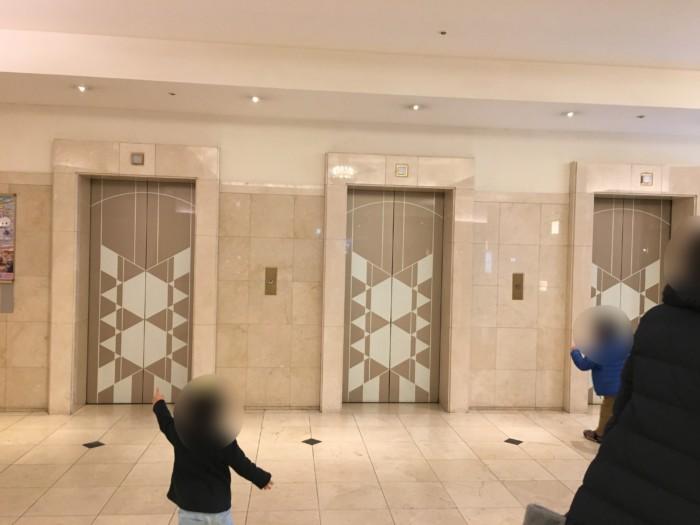 亀の井ホテル(別府)のエレベーター
