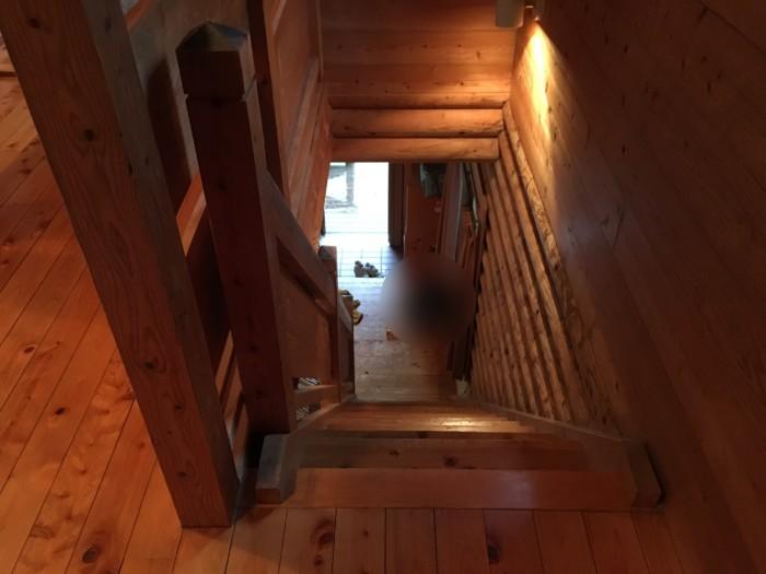 きゃんぱ(明浜)のケビン,階段の様子