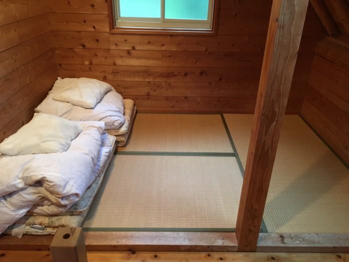 きゃんぱ(明浜)のケビン,2階の寝室の雑魚寝部屋
