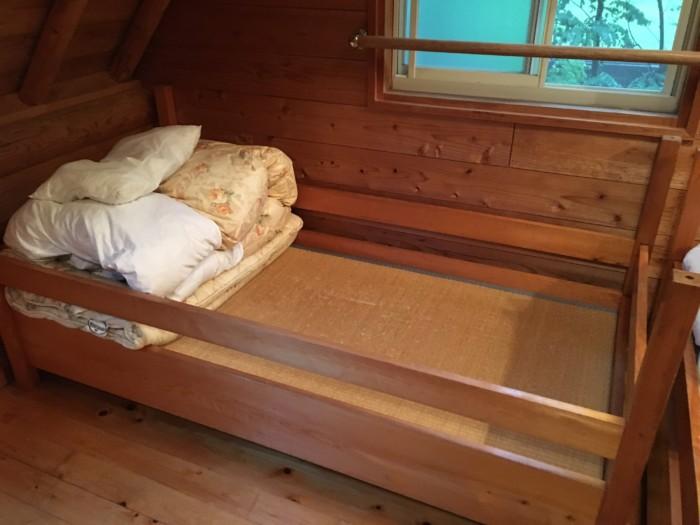 きゃんぱ(明浜)のケビン,2階の寝室のベッド