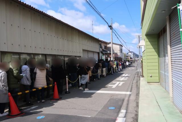 山越うどん(香川)の行列の様子