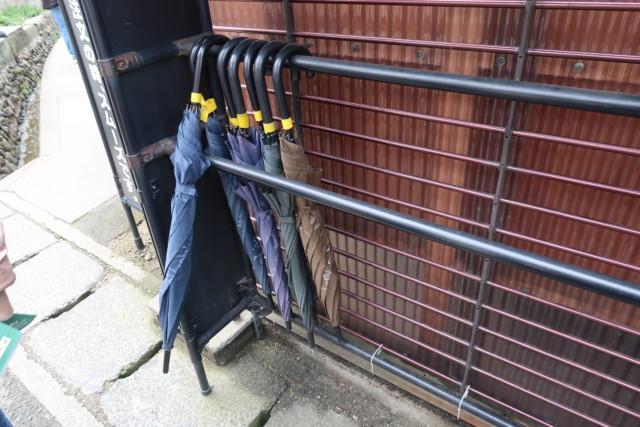山越うどん(香川)の貸し出し傘