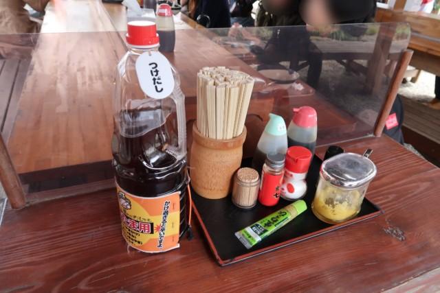 山越うどん(香川)で用意されている調味料